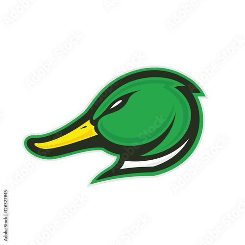 Duck head mascot Wall mural