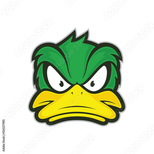 Fotografie, Tablou  Angry duck mascot