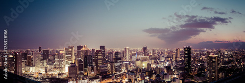 Obraz na płótnie 都市の夜景