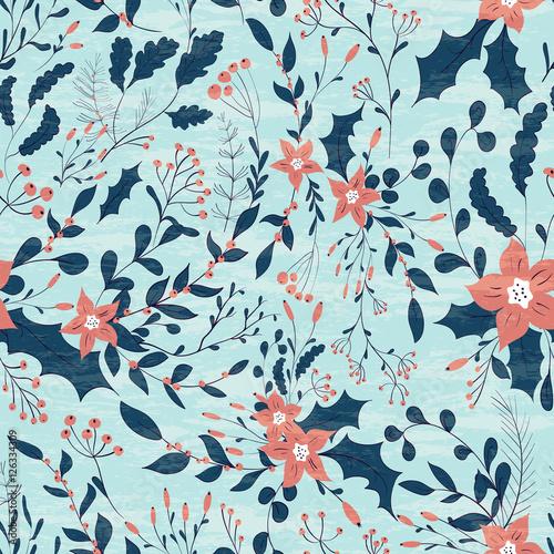 Stoffe zum Nähen Winter-Blumen-Muster