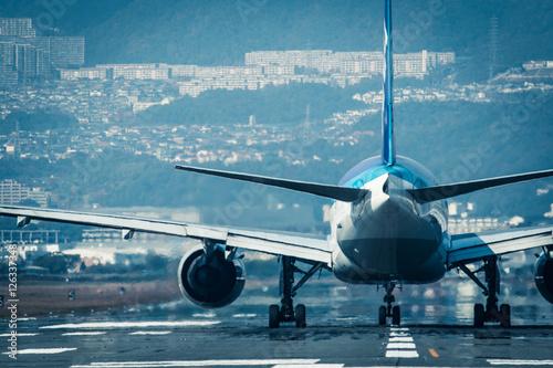 Zdjęcie XXL Śliski spacer samolotem