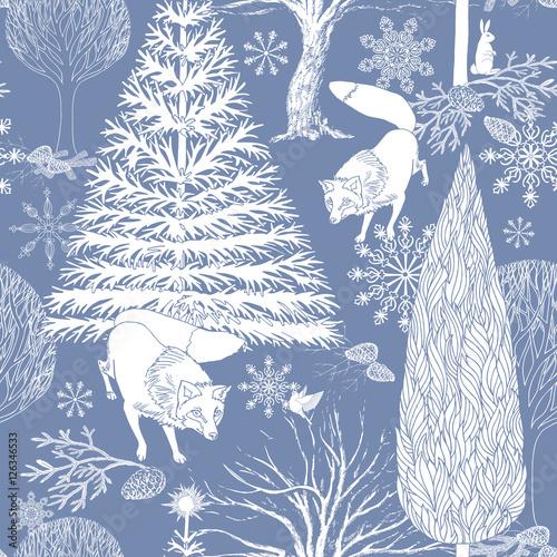 Stoffe zum Nähen Weihnachten und Neujahr blauer festlichen Hintergrund, Xmas spattern