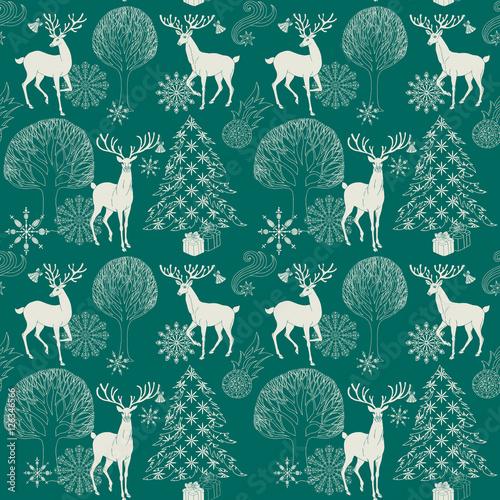 Stoffe zum Nähen Weihnachten und Neujahr blauer festlichen Hintergrund, Xmas-Muster
