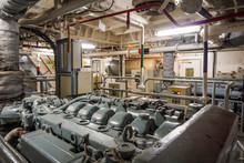 Main Engine Room Of The Ship