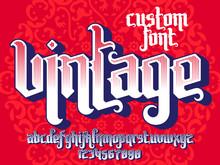 Vintage Custom Font