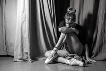 Ballerina Sitting On The Stage...