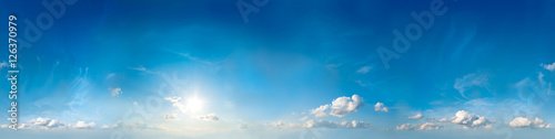 Fotografia  Seamless sky panorama. 360 degrees.