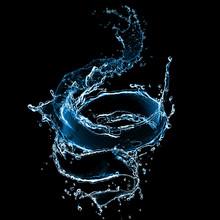Splash Of Juice Isolated On Bl...