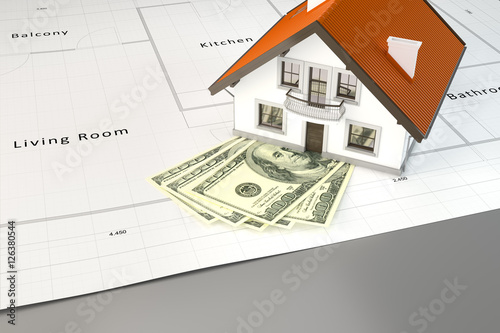 planning to build a house with money & planning to build a house with money - Buy this stock illustration ...