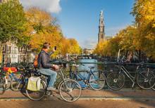 Tourist Taking Photo Of Westerkerk