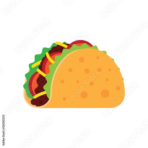 Fotografie, Obraz  Taco mexican food.