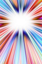 Colorful Starburst Explosion Background