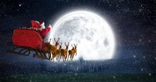 Composite Image Of Santa Claus...