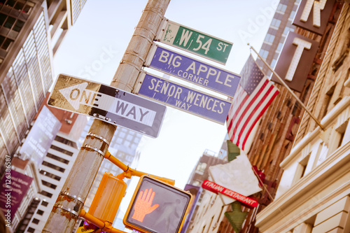 Fototapeta new york street signals