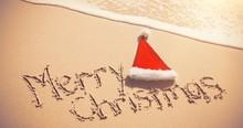Merry Christmas Written On San...