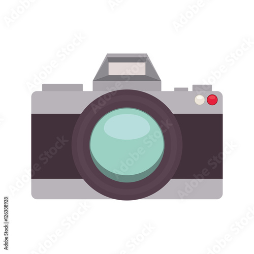Cuadros en Lienzo silhouette with analog photo camera vector illustration