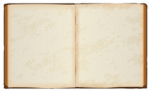 Open Book With Old Blank Pages
