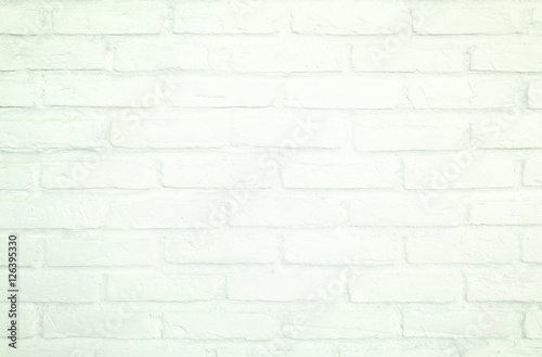 Spoed Fotobehang Baksteen muur White brick wall for Background and texture