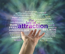 The Law Of Attraction Word Clo...