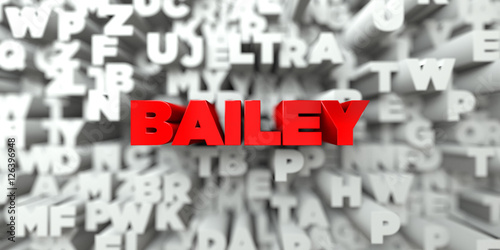 Photo BAILEY -  Red text on typography background - 3D rendered royalty free stock image