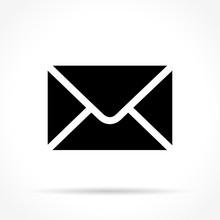 Envelope Icon On White Backgro...
