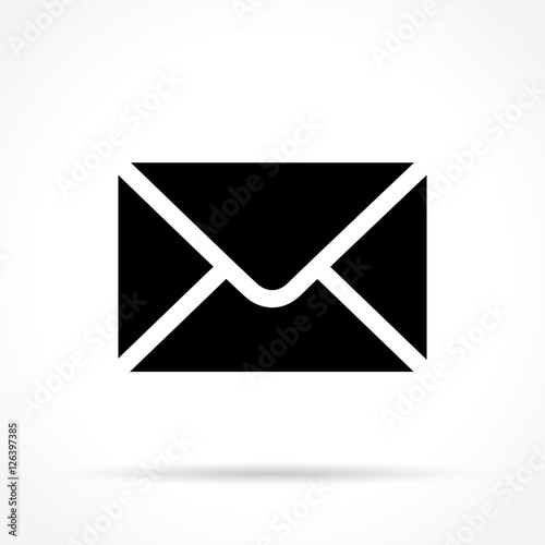 Fotomural  envelope icon on white background