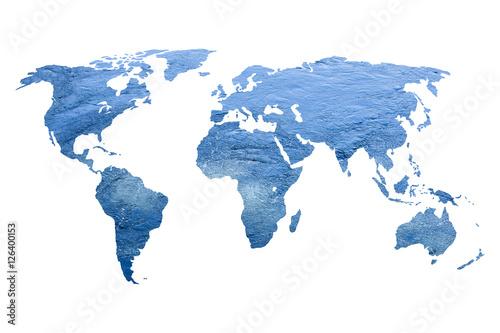 In de dag Wereldkaart water world map