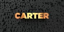 Carter - Gold Text On Black Ba...