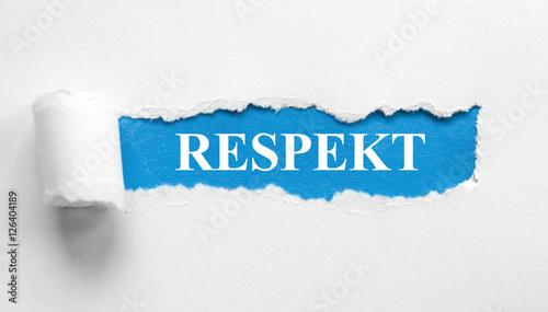 Fototapeta Respekt