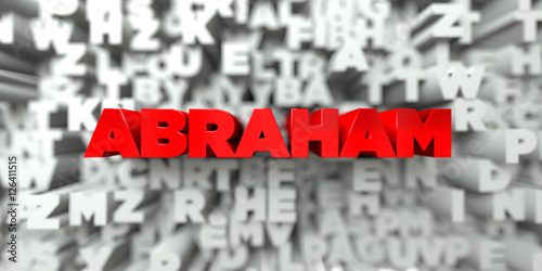 Foto  ABRAHAM -  Red text on typography background - 3D rendered royalty free stock image