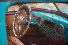 Steering Wheel Of Old Abandone...