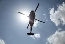 Blackhawk Flying Above