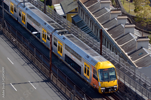 plakat Aerial view of Sydney Trains in Sydney New South Wales Australia