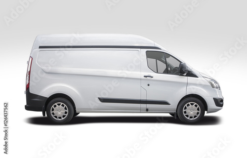 10afdc04ab White van side view ready for branding - Buy this stock photo and ...