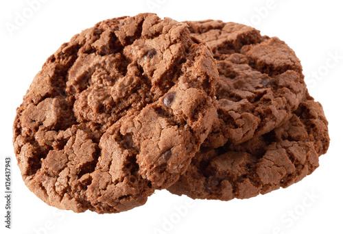 Poster Koekjes Dark chocolate cookies