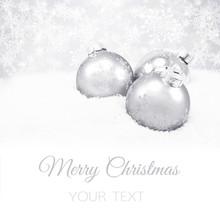 Three Rsilver Christmas Balls
