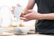 tea ceremony with puerh tea