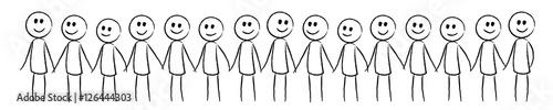 Foto  Viele glückliche Menschen, die sich ihre Hände halten