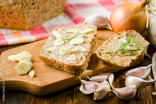 Garlic a natural antibiotic - Buy this stock photo and