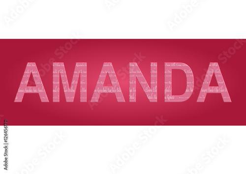 Vorname Amanda, Grafik Canvas Print