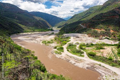 Plakat Widok na rzekę Chicamocha