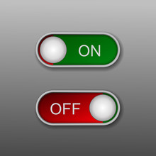 Toggle Switch Vector Icon, On ...