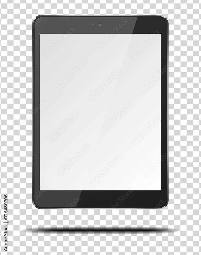 Fototapeta Realistic tablet pc computer with blank screen.