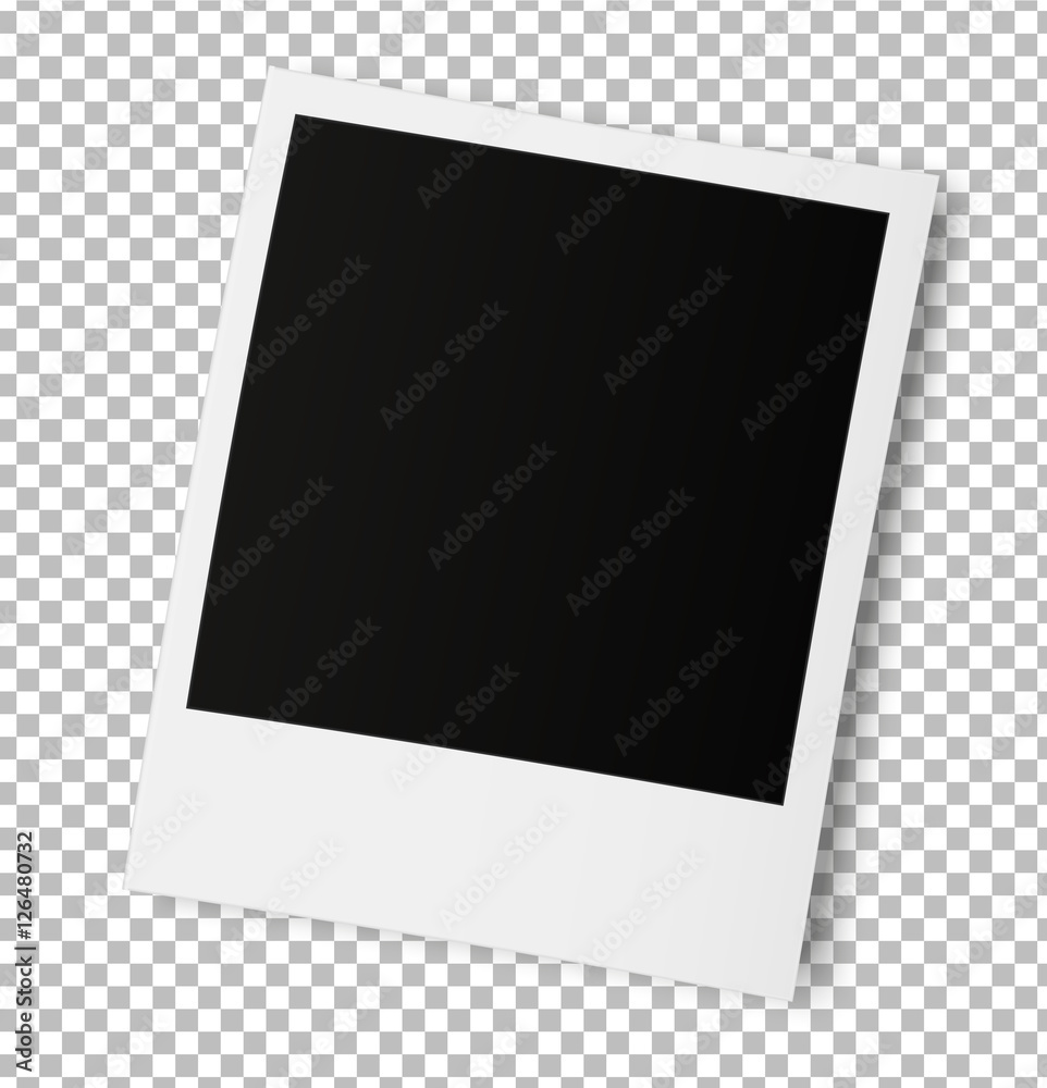 Fototapety, obrazy: Realistic old photo frame isolated on transparent background.