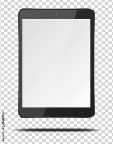 Fotografia  Realistic tablet pc computer with blank screen.