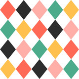 Kolorowej Chirstmas Szachowej deski tła wektoru Diamentowa ilustracja. - 126496528