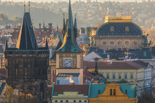 Prague Roofs And Towers, Prague Historical Architecture With The