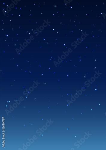 Obraz Night starry sky. Vertical background - fototapety do salonu