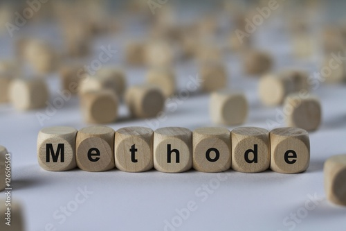 Fotografía  Methode - Holzwürfel mit Buchstaben