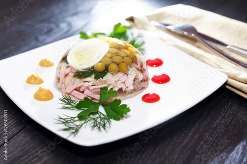Photo Aspic On Table